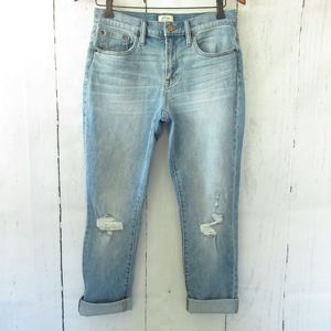 J Crew Slim Broken In Boyfriend Jeans Distressed